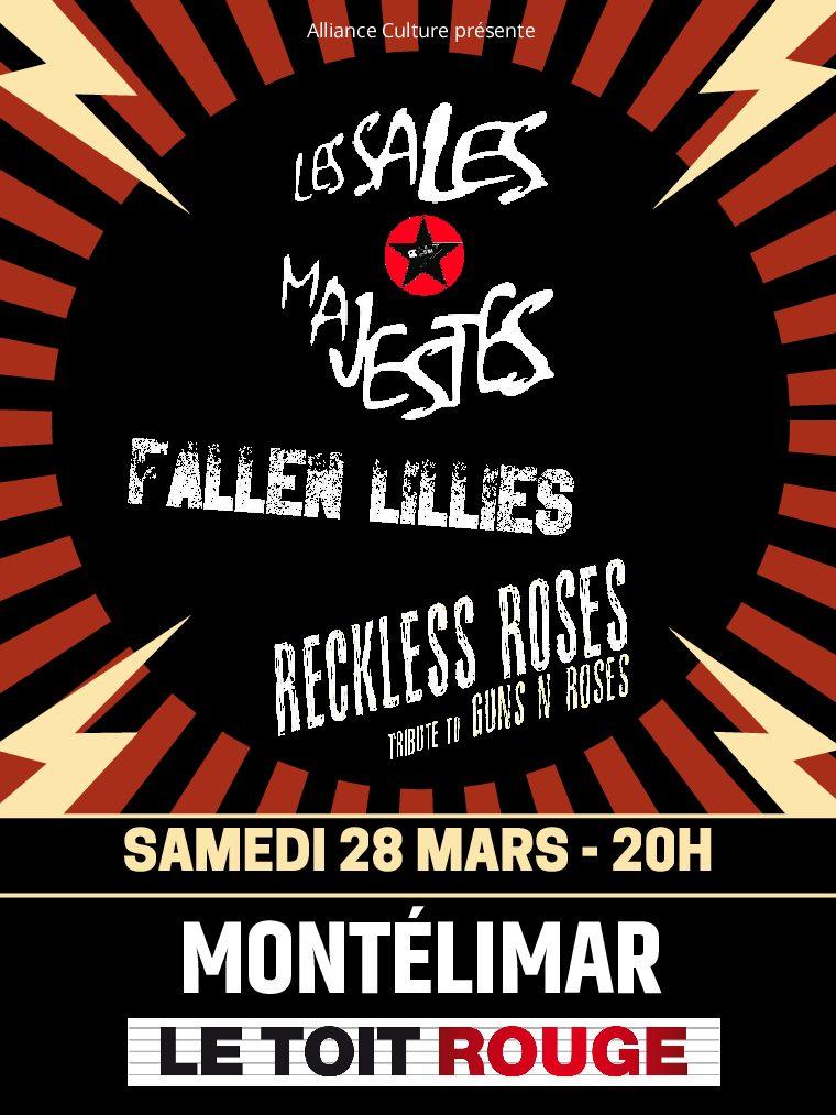 Les Sales majestés / Fallen Lillies / Reckless Roses